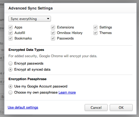 Chrome Settings | Advanced